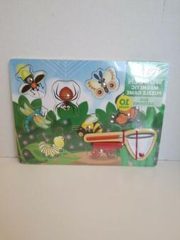 """Melissa And Doug Wooden Magnetic Puzzle Game """"Bug Catching"""""""