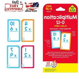 Multiplication Flash Cards Elementary Math Brain Kid School