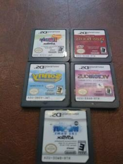 Nintendo Ds Video Game Lot Of 5 Kid Friendly games Tested Wo