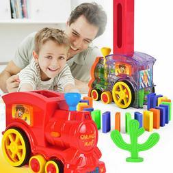 Red Domino Train, Domino Blocks Set - Girl Boy Children Crea