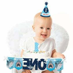 Big Dot Of Happiness Shark Zone 1St Birthday - First Birthda
