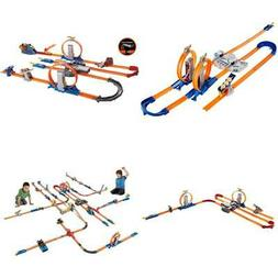 Hot Wheels Track Set Builder Loops W/ Booster Cars Racetrack