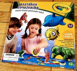 Crayola Undersea Adventures Color Matching Board Game New