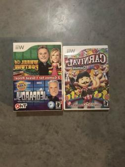 Wii  games lot Family/Kids Wheel Of Fortune, Jeopardy, Carni