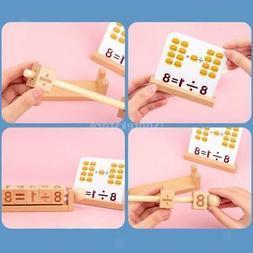 Wooden Match Letter Child Building Blocks Spelling Words Gam