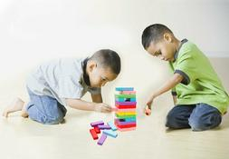 Lewo Wooden Stacking Board Games Building Blocks for Kids -
