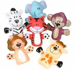 Rhode Island Novelty Zoo Animal Finger Puppets | Set of 12